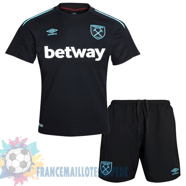 Magasin De Foot umbro Exterieur Ensemble Enfant West Ham 2017 2018 Noir
