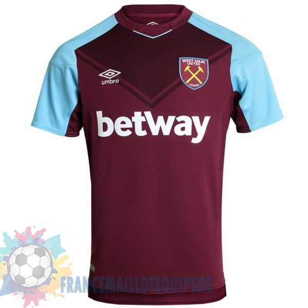 Magasin De Foot umbro Domicile Maillots West Ham 2017 2018 Rouge