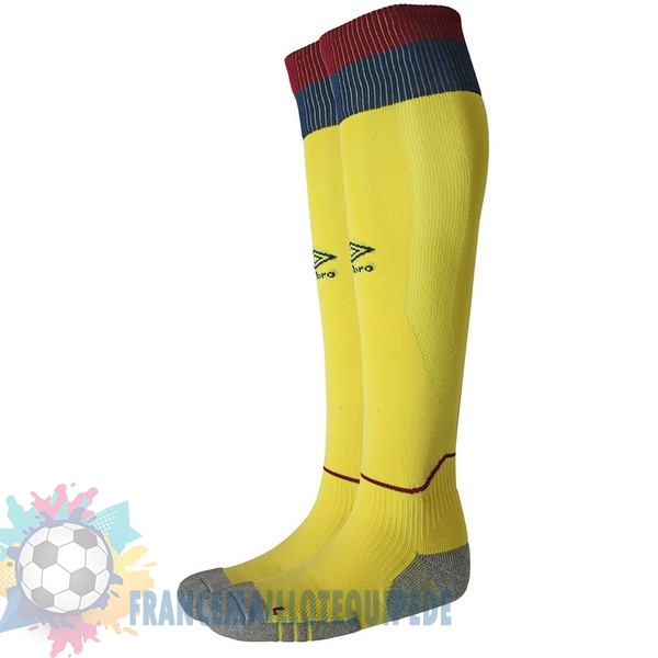 Magasin De Foot umbro Exterieur Chaussettes West Ham United 2018-2019 Jaune