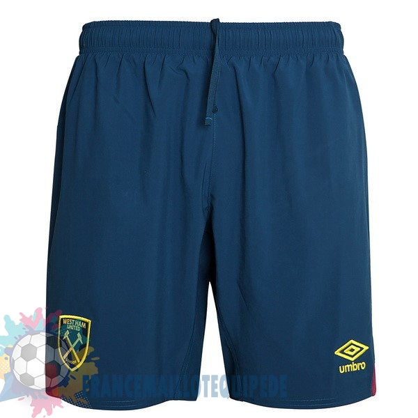 Magasin De Foot umbro Exterieur Shorts West Ham United 2018-2019 Bleu