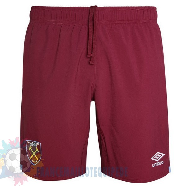 Magasin De Foot Umbro Domicile Pantalon West Ham United 2019 2020 Rouge
