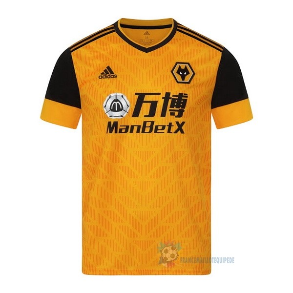 Magasin De Foot adidas Domicile Maillot Wolves 2020 2021 Jaune